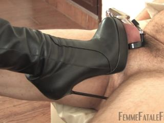 Cbt – Femme Fatale Films – Cold Steel, Warm Leather Part 1-2 – Mistress Heather