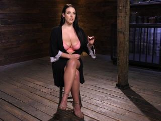 Angela White Begs to Suffer For Her Master in Metal Bondage