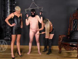 Cbt – Mistress Nikki Whiplash – Cock whipped & Caned by Nikki & Hunteress WL1410