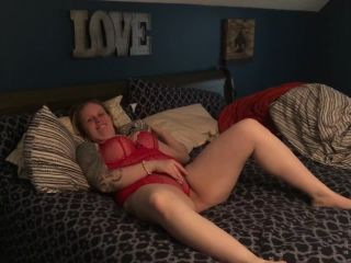 My friends hot mom wears SEXY RED LACE LINGERIE