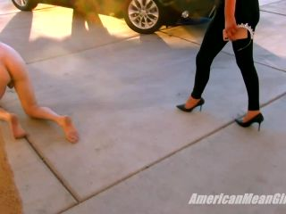 Trampling – THE MEAN GIRLS – This Slaves A Real Drag – Princess Ashley and Princess Chanel