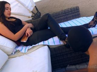 Foot Slave – THE MEAN GIRLS – Using The Deck Slave – Princess Adrianna