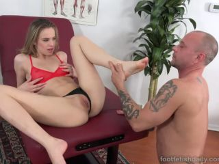 Jillian janson shoves her sexy toes in kurts mouth before getting fucked