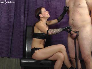 handjobs mistress: teasing 'til he cums