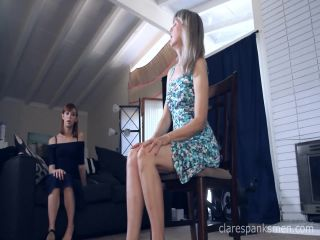 Clare Spanks Men – Alexa Nova – Gets Spanking Instructions from Mom