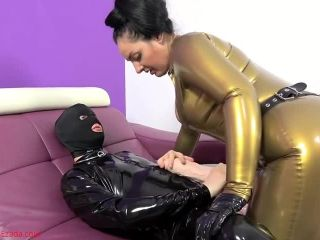 robot femdom toys | Mistress Ezada Sinn – A huge cock for My latex bitch  – Strap-on, Female Domination | female domination
