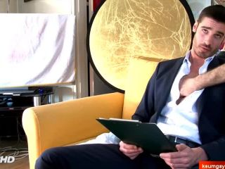 Straight in suit saleman gets wanked his big hard dick in spite of him!