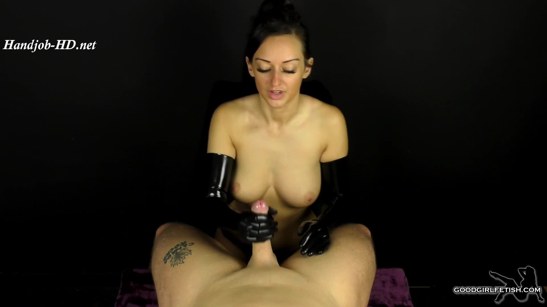 Long Latex Gloves Handjob