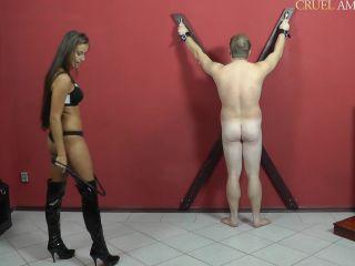 Leather – CRUEL MISTRESSES – Amanda whips him rough Starring Mistress Amanda