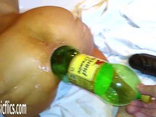 Marias 2litre anal bottle fuck
