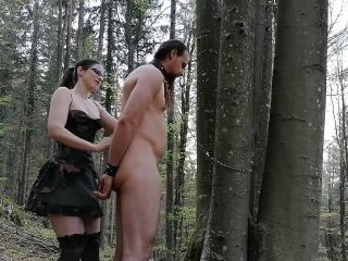 Pegging my slave in chastity