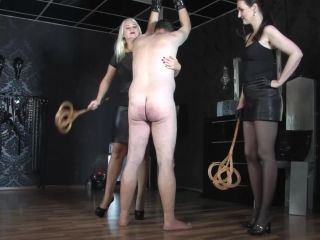 Bondage – GERMAN FEMDOM Lady Victoria Valente – Double domination: The carpet beater game with Divine Mistress Heather