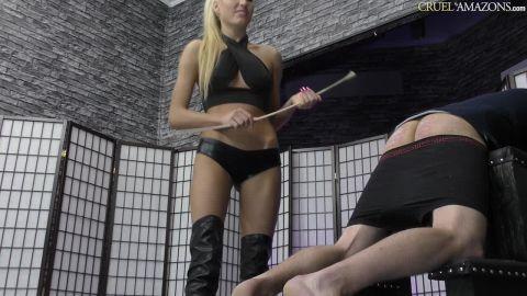 Mistress Ariel - Slave Breaks The Canes (720p)