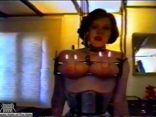 Slave Lou's Torment part 1 – Breast Suspension