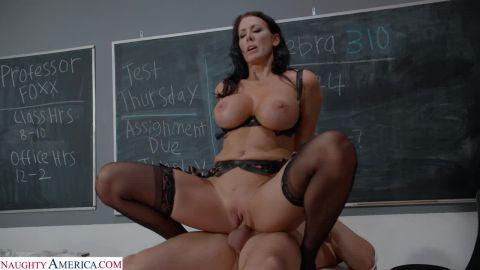 Reagan Foxx - Reagan Foxx Teaches Her Student A Special Lesson In Classroom (720p)