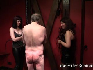 Merciless Dominas - Zoe Page, Domina Samantha - Old Sub And His Whips