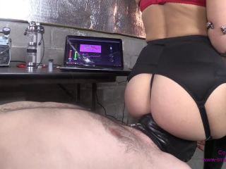 Young girl in black boots makes experiments on dick