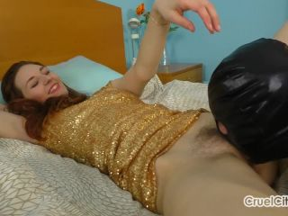 Cuckolding Her Slave by Making Him Lick Sperm