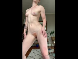 amygingerhart 02-04-2020 Felt good after my workout so what else would I do besides strip down and dance for you