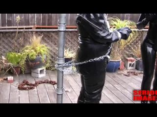 MISTRESS SABLE DOES LATEX BONDAGE