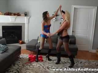 Bratty Ashley Sinclair and Friends – Super-Heroine Bound