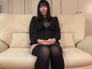 Japanese milf with big tits and hairy sy under her dress