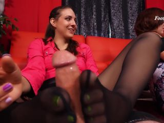 Footjob Behind The Bosses Back — Bratty Babes Own You — Sadie Holmes, Stephie Staar