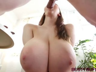 Cute girl look up at you with her lips and tits wrapped around thick d ...