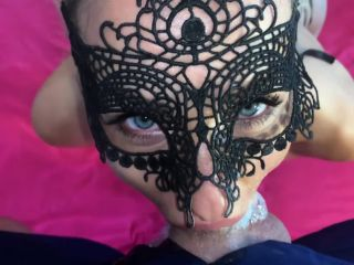 Saliva Bunny - Super Messy Blowjob & Face Fuck from my Step Sister. PART2  | blonde | blonde pretty amateur