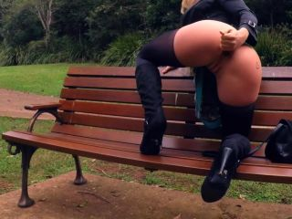 SecretCrush - Flashing In Public Park Turns Into Risky Glass Anal Toy ...