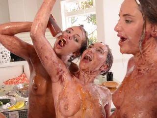 Messy Girls: Last Supper | hope howell | brunette girls porn dillion harper femdom | adriana chechik | femdom porn big femdom