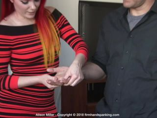 Firm Hand Spanking – Alison Miller – The Challenge – A on fetish porn femdom foot domination