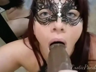 Slutty Exotic Panda with an anal plug in her ass ride BBC