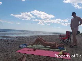 TianaLive in Beach Strangers Cumming On Me - tianalive - milf porn