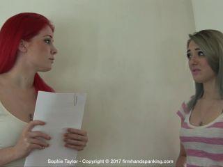 Firm Hand Spanking – Sophie Taylor – Sorority Sisters – FG - caning - fetish porn handgag fetish