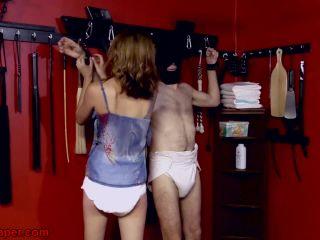 Exquisite punishment in diapers