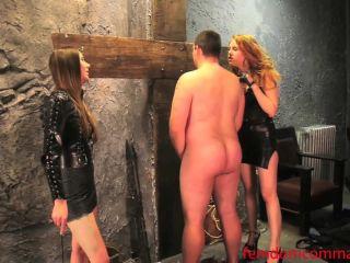 femdomcommand  caned slave  balls