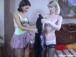 sian lesbians are having lots of fun with strap!