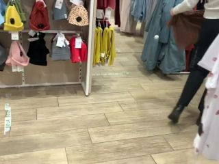 public Masturbation of a young bitch FeralBerryy with a Dildo in the fitting room (FULL VIDEO)