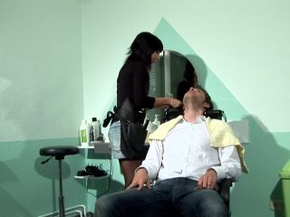 Stockinged milf with small tits gets banged at her shop