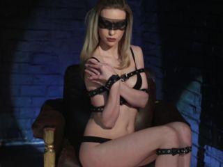 Backstage bondage photo shoot