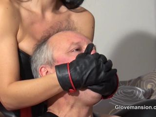 Glove Mansion - Fetish Liza - Short Leather Gloves Smothering!!!