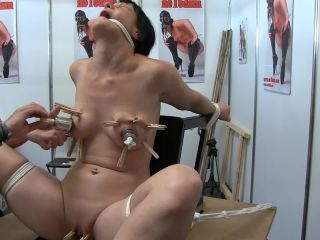 2251 Painful torture tits of bound milf in front of audiences