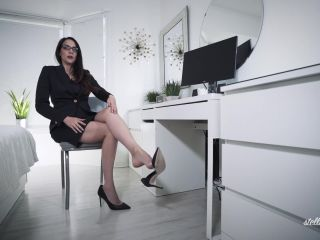 Shoes – Stella Liberty – Office Bitch Dangling | shoe domination | feet furry femdom
