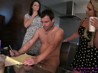Cuckoldress Cameron and Friends  Cali and Vienna  Office Underling Punished Part 1