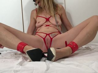 Painslut torture & squirting: 30 edges, nipple torture, drooling, anal plug on milf porn amateur interracial cuckold