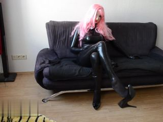 Full Latex and 14cm Devious Domina High Heels Dangling