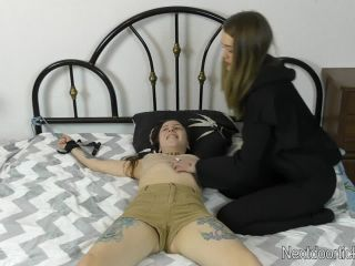 18 years old lisa gets bondage and tickled by her friends(porn)