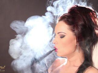 Smoking 7179-Smoking Pipe in Gloves on fetish porn plastic fetish