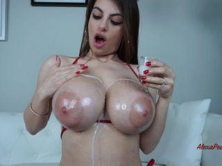 MissAlexaPearl - Tit Worship JOI Oil And Cummed On HD
